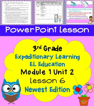 Expeditionary Learning EL Education 3rd Grade Power Point M1U2 Lesson 6