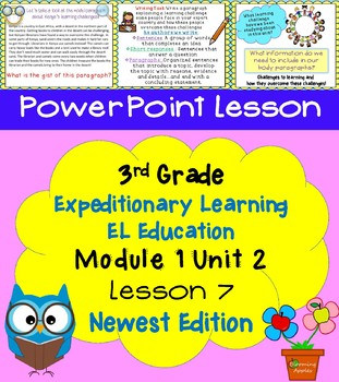 Expeditionary Learning EL Education 3rd Grade Power Point M1U2 Lesson 7