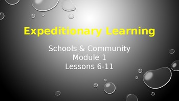 Expeditionary Learning  Schools & Community Module 1 Unit 1 Lessons 6-11