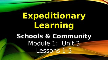 Expeditionary Learning  Schools & Community Module 1 Unit 3 Lessons 1-5