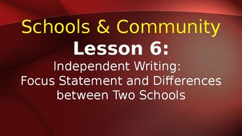 Expeditionary Learning  Schools & Community Module 1 Unit 3 Lessons 6-10