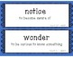 Engage NY Expeditionary Learning Unit 1 Lessons 1-11 Vocabulary Word Wall