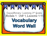 Engage NY Expeditionary Learning Unit 1 Lessons 1-11 Vocab