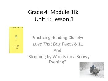 Expeditionary Learning Unit 1B - Grade 4 Lesson 3