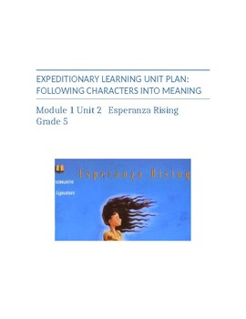 NYCDOE Expeditionary Learning Unit Plan: Module 1 Unit 2 Esperanza Rising 5th Gr