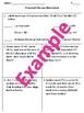 Expenses and Balance Worksheet TEK 4.10A 4.10D 4.10C
