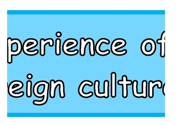 Experience of foreign culture Banner