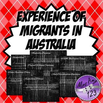 Experiences of Migrants in Australia Post Federation