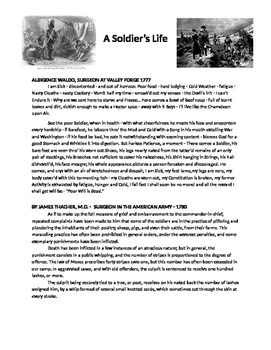 Experiences of Soldiers from the American Revolution - Quotes