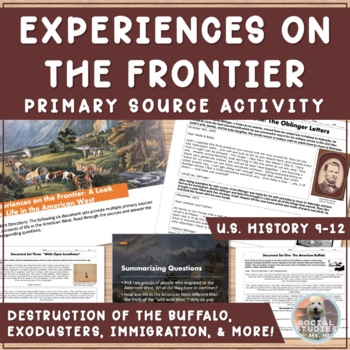 Experiences on the Frontier: Primary Source Activity from the American West