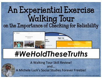 Experiential Exercise Walking Tour on Source & Internet Reliability Fake News