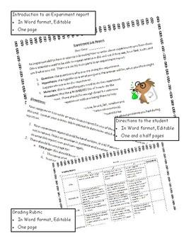 Experiment Lab Report - Grade 2