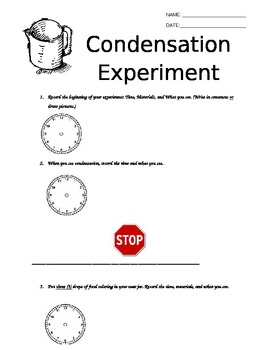 Experiment Log for Condensation