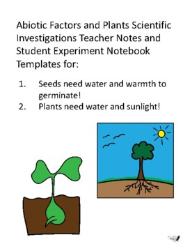 Experiment Notebook: Seeds need warmth and water!