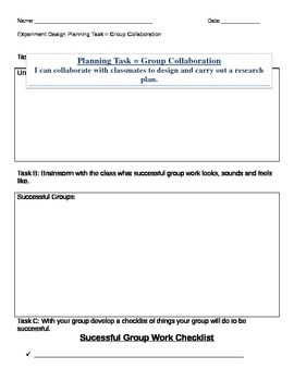 Experiment Planning - Group Collaboration