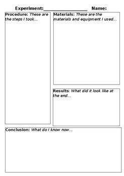 Experiment Record Sheet Template