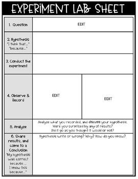 Experiment Sheets