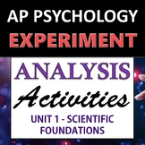 Experiment & Statistical Analysis Set - AP Psychology (AP Psych) - Unit 1
