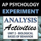Experiment & Statistical Analysis Set - AP Psychology (AP Psych) - Unit 2