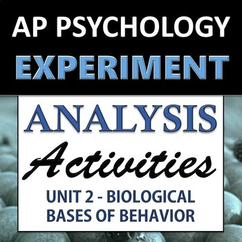 Experiment & Statistical Analysis Set - AP Psychology (AP Psych) - Unit 2