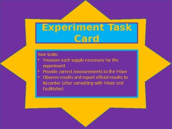 Experiment Task Cards