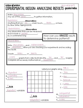 Experimental Design: Gathering & Analyzing Data Guided Notes with Answer Key