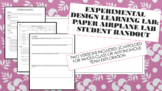 Experimental Design Learning Lab: Paper Airplane Lab Student Handout