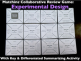 Experimental Design Match Game Collaborative Review w/Key