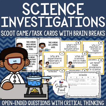 Science Investigations Scoot Game/Task Cards