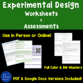 Scientific Method and Experimental Design Assessments and Worksheets