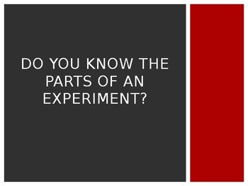 Experimental Design (Variables) Notes and Experiment:  Does Gender Affect Aim?