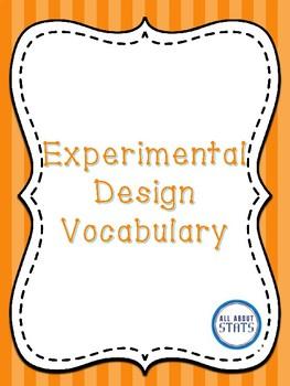Experimental Design Vocabulary Foldable