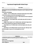 Experimental Design/Scientific Method Project Assignment Packet
