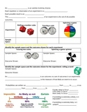 Experimental Probability: Guided Notes, Practice, and Application with answers