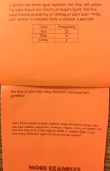 Experimental Probability Flip book