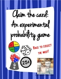 Experimental Probability Game: Claim the Card