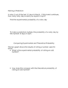 Experimental Probability Notes