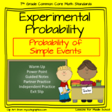 Experimental Probability of Simple Events  - 7th Grade Probability