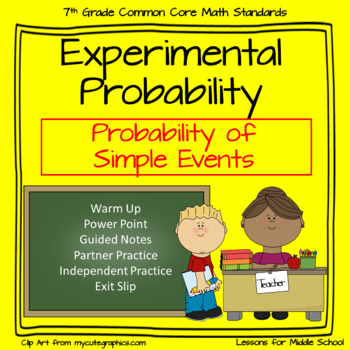 Experimental Probability of Simple Events  - 7th Grade Pro