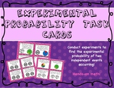 Experimental Probability Task Cards (Two Independent Events)