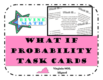 Experimental Probability What If Cards
