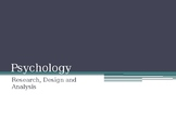 Experimental Research and Design - Senior Psychology