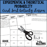Experimental & Theoretical Probability Card Sort Activity Lesson