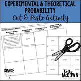 Experimental & Theoretical Probability Cut & Paste Activity