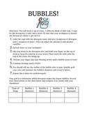 Experimenting with Bubbles
