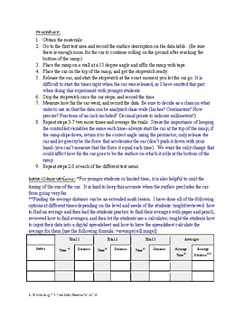 Experimenting with Friction: Student Lab Sheet and Teaching Notes