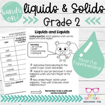 Experimenting with Liquids and Solids