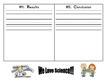 Experiments with Scientific Method Recording Sheets