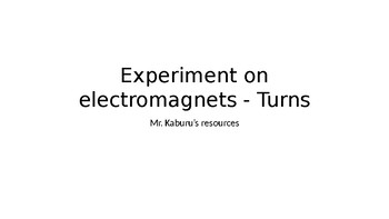 Experiments with electromagnets