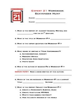 Expert 21 Course 1 Scavenger Hunt